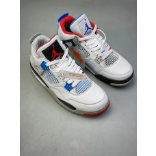 Air Jordans 4 What The White Shoes