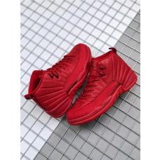 Retro Jordans 12 Red Suede Shoes