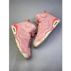 Aleali May x Air Jordans 6 Millennial Pink Shoes