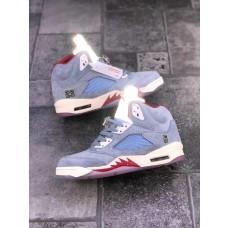 Jordans 5 Retro Trophy Room Ice Blue Sneakers
