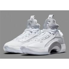 Jordans 35 Low All White Metallic Shoes